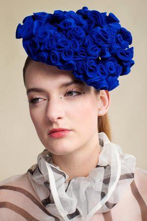 felt-fascinator-Blue-Blue-Roses